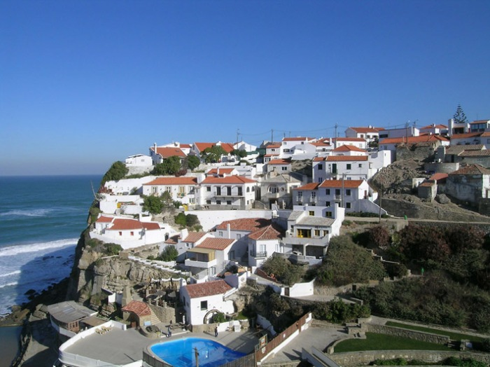 Azenhas do Mar, one of the villages on the coast between Sintra and Ericeira.