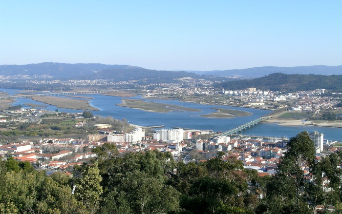 Looking back down on Viana do Castelo and the Rio Lima.