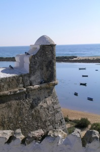 The old fort at Cacela Velha overlooks the lagoon