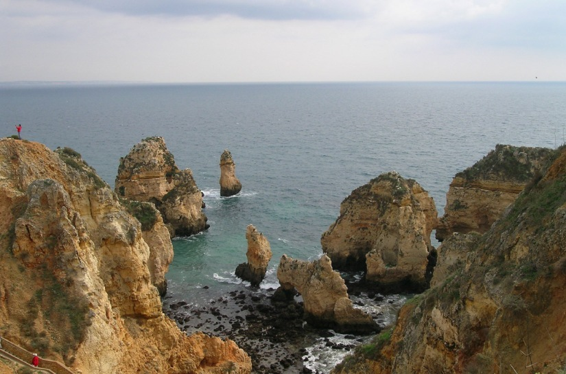 Cliffs on the point to the south of Lagos