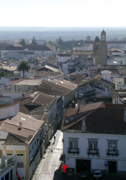 Looking south over the old centre of Beja - with the Alentejo plains beyond