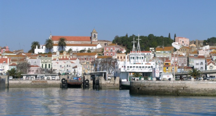 Arriving in Setubal by ferry