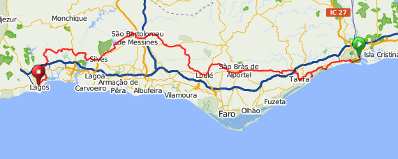 Stage Ayamonte To Lagos Pedal Portugal - Portugal map vilamoura