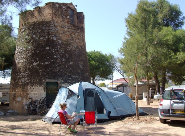 The municipal campsite in Serpa - a lovely small town in the south eastern Alentejo.
