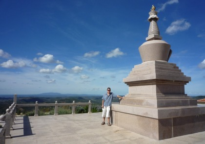 Buddhist stupa - and amazing views - near Malhao.