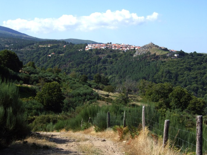 Wild landscapes - the village of Linhares on the edge of the Serra da Estrela