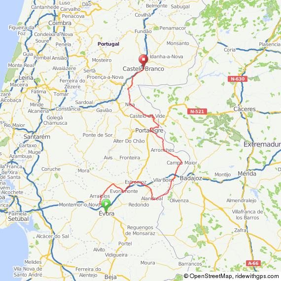 Border Castles Alentejo Pedal Portugal - Portugal map tomar