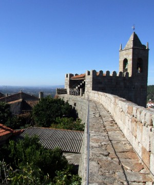 Looking out from the battlements at Penamacor