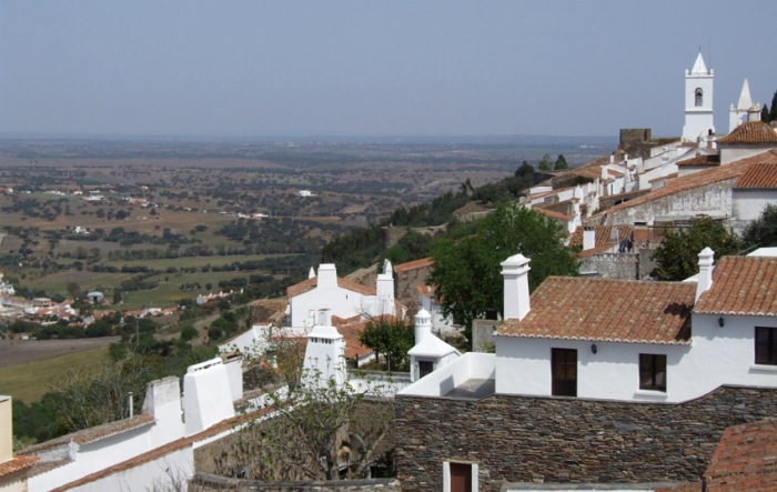 Looking out over the Alentejo countryside from Monsaraz - first night's stop on the Alentejo circuit