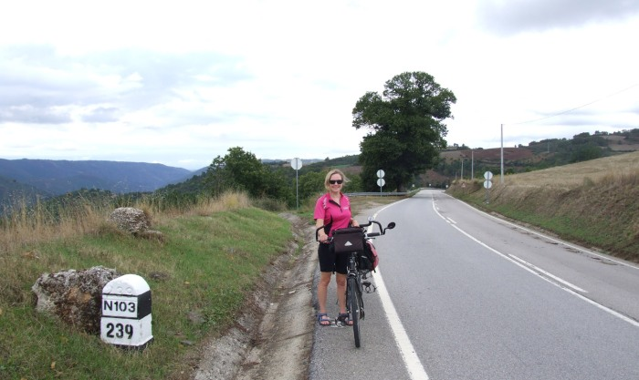 On the main road west of Braganca