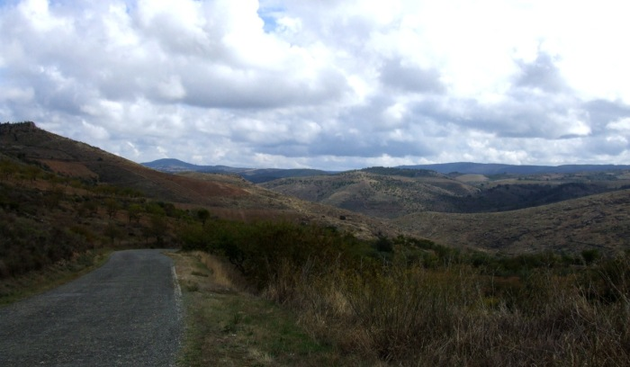 South from Valverde - starting to descend