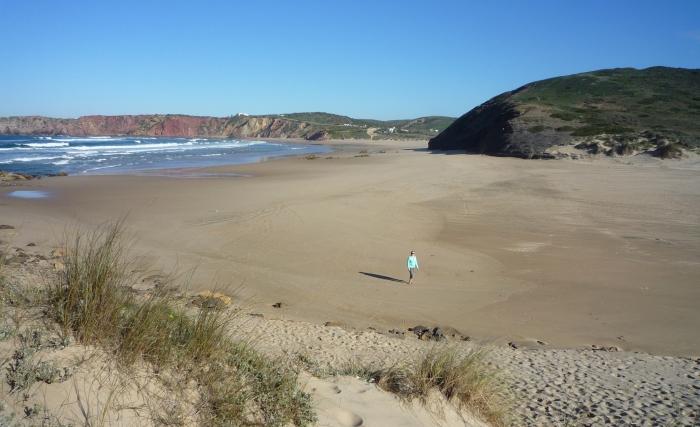 Praia da Bordeira on the Algarve's west coast in January 2015