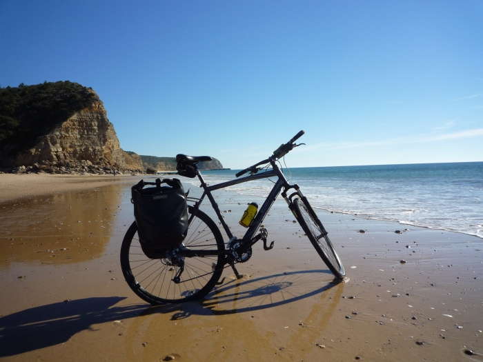 Simply gorgeous - the beach at Boca do Rio, in the western Algarve. Thanks to Cycling Rentals for the bike!