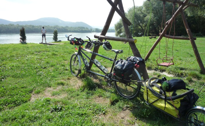 On the road with tandem and trailer, September 2015 (Hungary not Portugal)