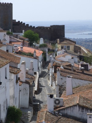 The gorgeous hilltop village of Monsaraz - an overnight halt on the Border Castles Tour