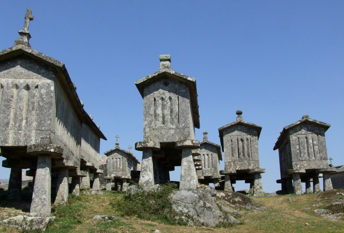 Stone espigueiros (granaries) at Lindoso - one of the stops on the Northern Frontier Tour