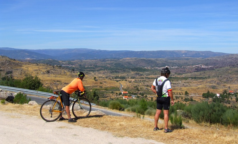 Looking back towards the Serra de Estrela