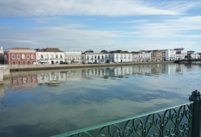 Tavira waterfront early morning
