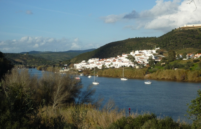 Looking across the river to Sanlucar de Guadiana on the Spanish side