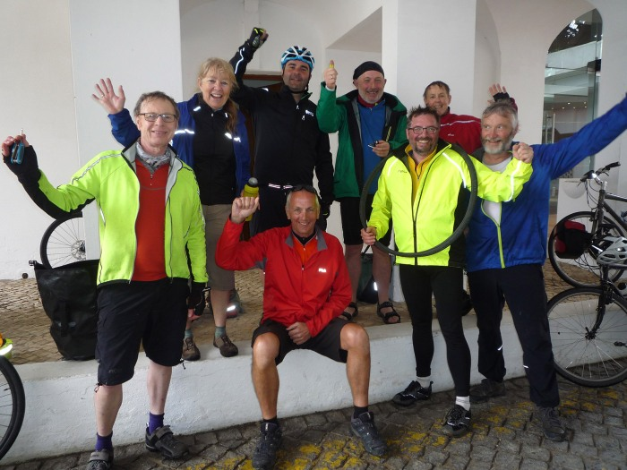 Mission complete! Damp but not defeated, Team Pedal Portugal arrive back home