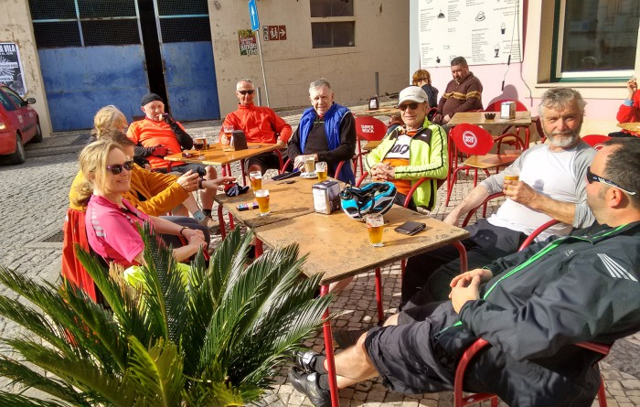 A cold beer seemed a good way to relax after a big climb on a sunny February day