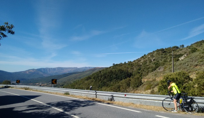 First views of the Serra da Estrela, Portugal's highest mountains