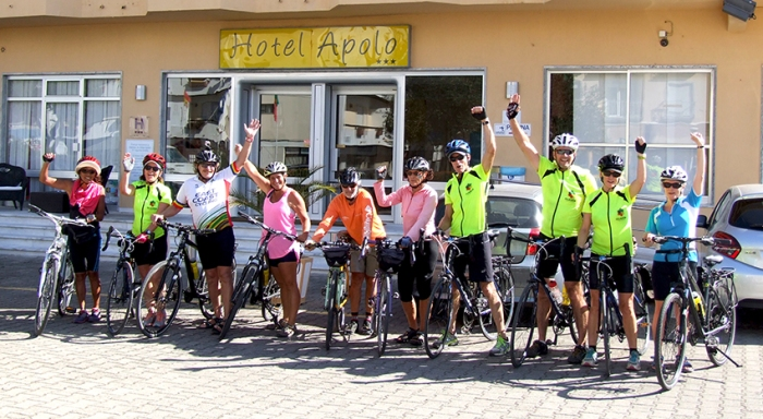 Finish line at the Hotel Apolo in VRSA