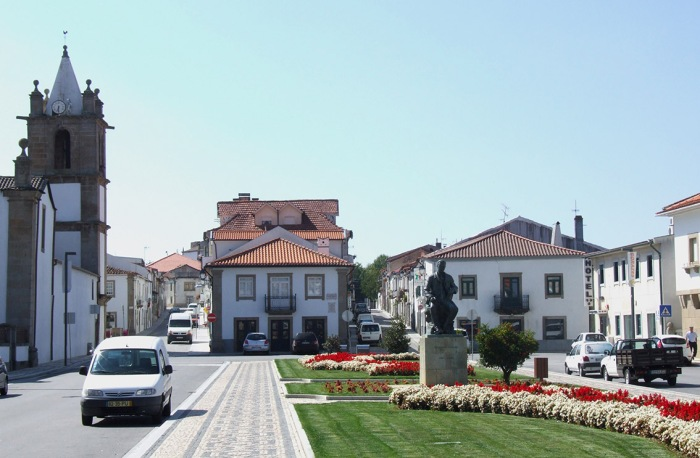 The centre of Mogadouro, a quiet town in the Tras os Montes region